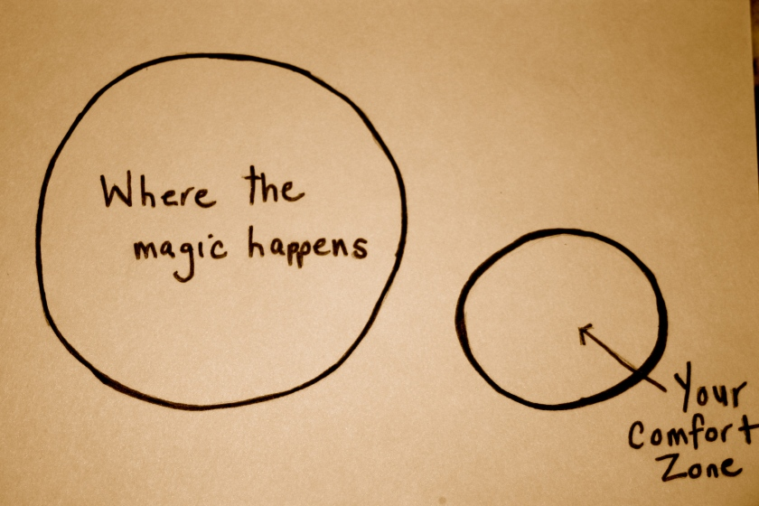 Where the magic happens is ouside the comfort zone