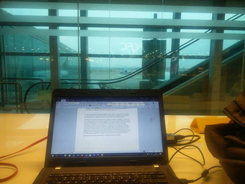 desk at airport